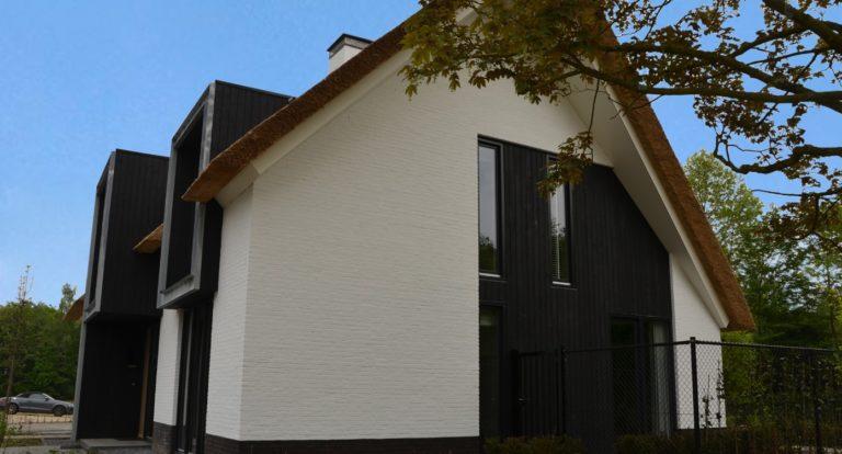 drijvers-oisterwijk-boerderij-villa-wit- geverfd-baksteen-riet-ramen-exterieur-nieuwbouw-blauwe-lucht (5)-min