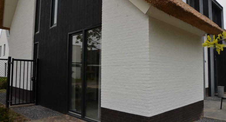 drijvers-oisterwijk-boerderij-villa-wit- geverfd-baksteen-riet-ramen-exterieur-nieuwbouw-blauwe-lucht (7)-min