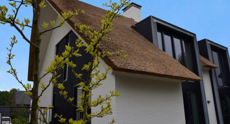 drijvers-oisterwijk-boerderij-villa-wit- geverfd-baksteen-riet-ramen-exterieur-nieuwbouw-blauwe-lucht (8)-min