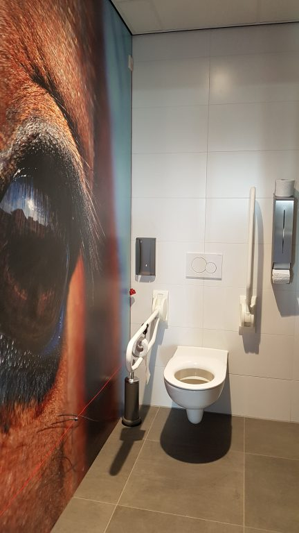 drijvers-oisterwijk-veterinair-centrum-modern-interieur-nieuwbouw-natuur-dieren-verlichting-rood-strak-minder-valide-paard-toilet (7)